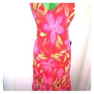 Alyn Paige Floral Low Cut Dress